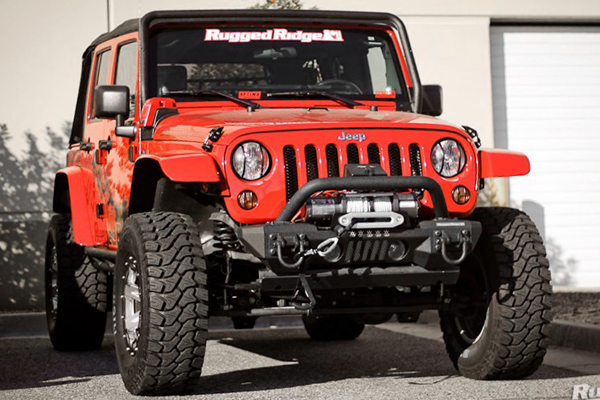 rugged ridge flat fender red